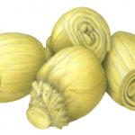 Four marinated whole artichokes