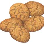 Five cinnamon crisp cookies.