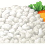 Dollop of cottage cheese with lettuce and sliced peaches