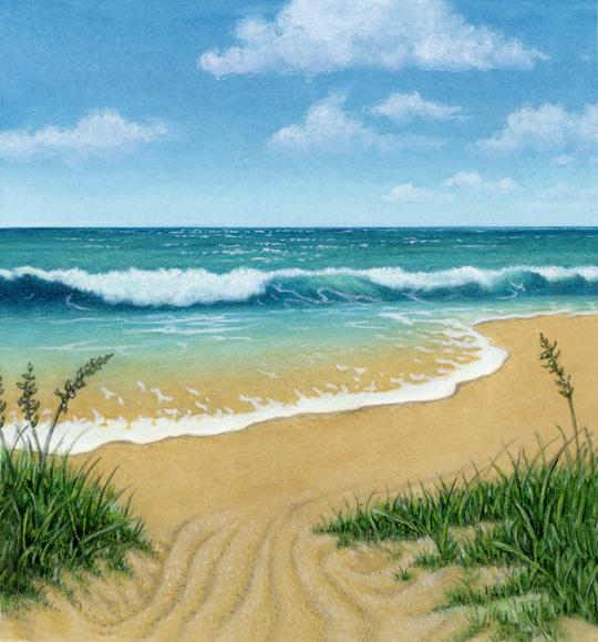 Ocean Beach: Scenery Stock Art Illustrations