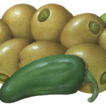 Green Queen olives stuffed with jalapenos
