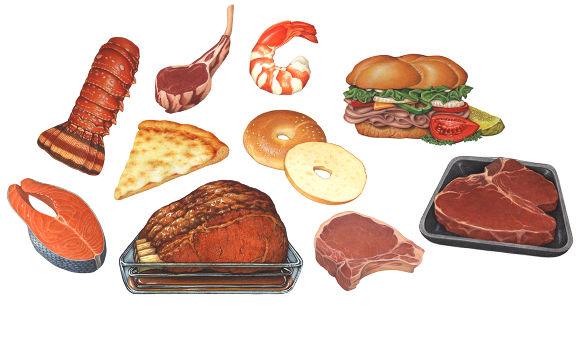 Food Illustrations Portfolio - Douglas Schneider Illustration