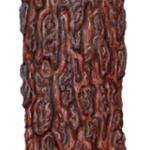 A back view of curled Australian ironbark bark.