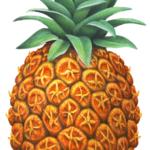 One whole ripe pineapple.